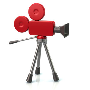 red movie camera